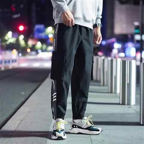 2020 wiosna 100% czysty len spodnie do kostek mężczyźni fajne gumką w pasie sznurkiem spodnie Plus Size męskie Plus rozmiar 5XL
