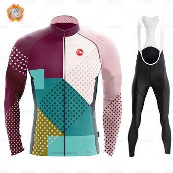 2020 velo de inverno pro conjunto camisa ciclismo mountian bicicleta roupas wear ropa ciclismo corrida roupas ciclismo conjunto 18