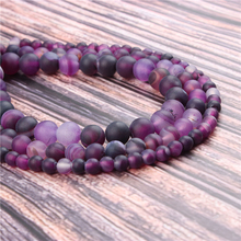 Hot?Sale?Natural?Stone?Purple Stripes15.5?Pick?Size?6/8/10/12mm?fit?Diy?Charms?Beads?Jewelry?Making?Accessories