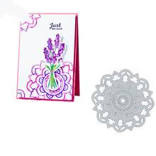 Цветочный фон металлические Вырубные штампы Скрапбукинг карточка