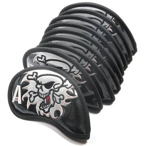Image 2 - 9pcs ברזל אפר מועדון ראש כיסוי ברזל ראש מכסה עור מפוצל גולף ראש כיסוי