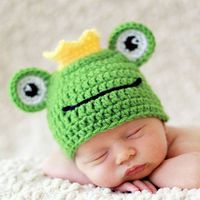 Newborn Clothes Girl Boy Crochet Knit Costume Photography Prop Outfits Baby Cap