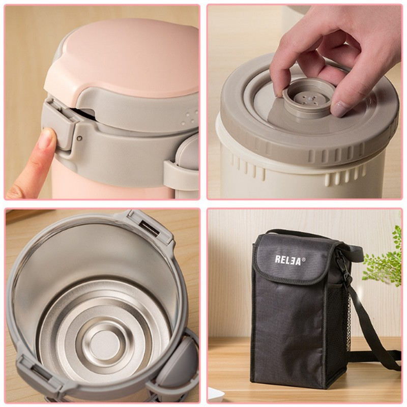 Высокое качество Нержавеющаясталь японский термо Ланч бокс 3 яруса изолированный охладитель для обеда сумка вакуумный контейнер для продуктов банка для хранения еды - 2