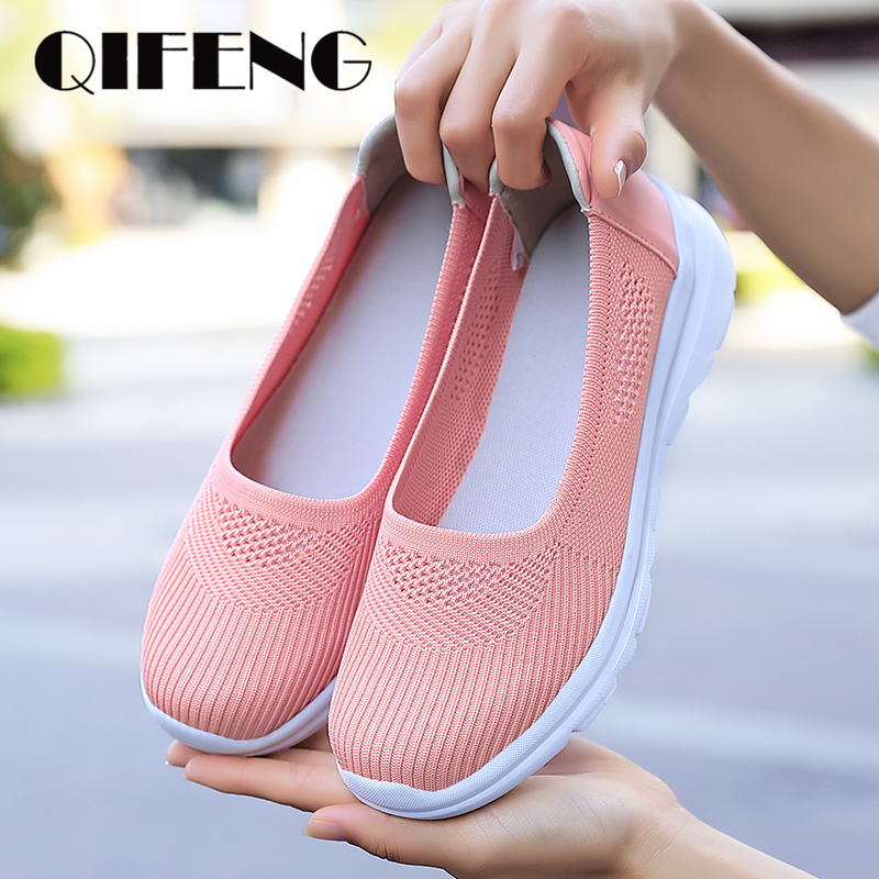 Summer Women Casual flats Shoes Sport Shoes Female Comfortable Breathable Mesh Sneakers Girl Footwear Tenis Shoes Ladies Shoes