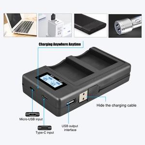 Image 2 - Зарядное устройство PALO для LPE12, ЖК дисплей, USB, smart LP, E12, батарея для Canon EOS M, M10, M50, M100, 100D, Kiss, X7, SL1, камеры