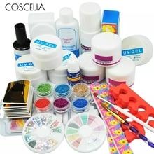 COSCELIA Pro акриловый набор для маникюра, педикюра, набор инструментов, набор для ногтей, УФ гель для ногтей, инструменты, акриловый порошок, маникюрные инструменты, набор, наборы