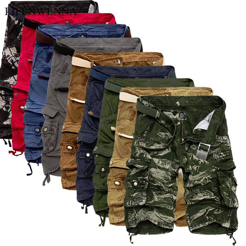 LIFENWENNA Cargo Shorts Men Cool Camouflage Summer Cotton Casual Men Short Pants Brand Clothing Comfortable Camo Men Cargo Short