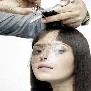 Image 2 - 50 100 pcs Women Supplies Disposable Face Hairspray Shield Film For Hair Salon Hair Cutting Face Protection Shield Mask