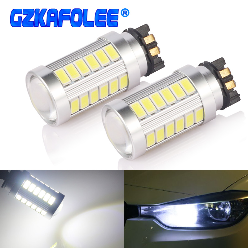 GZKAFOLEE Canbus PW24W LED PWY24W <font><b>Bulbs</b></font> For Audi Skoda <font><b>BMW</b></font> Volkswagen Turn Signal <font><b>Lights</b></font> or <font><b>Daytime</b></font> <font><b>Running</b></font> <font><b>Lights</b></font> White yellow image