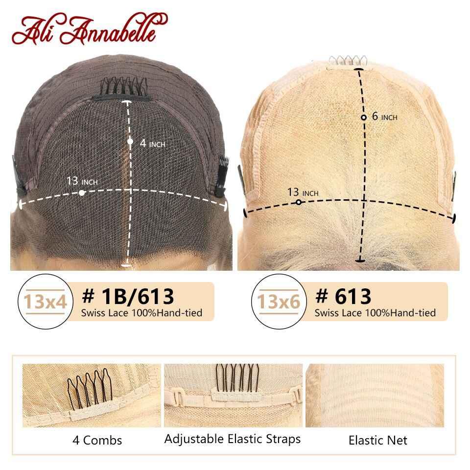 Péruvien couleur 613 Blonde Bob perruques avec des cheveux de bébé 13X6 dentelle avant perruques de cheveux humains 99J #27 1B/613 couleur naturelle courte Bob perruques