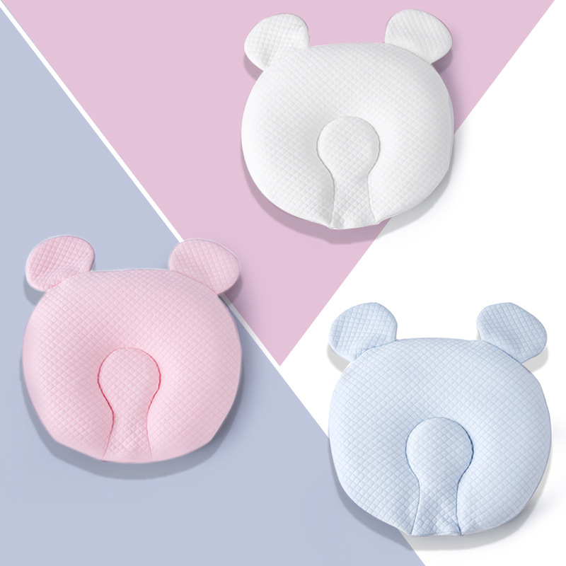2019 New Style Bear Infant Memory Baby Pillow Infant Stereotypes Memory Pillow Cotton Core Anti Migraine Baby Memory Pillow