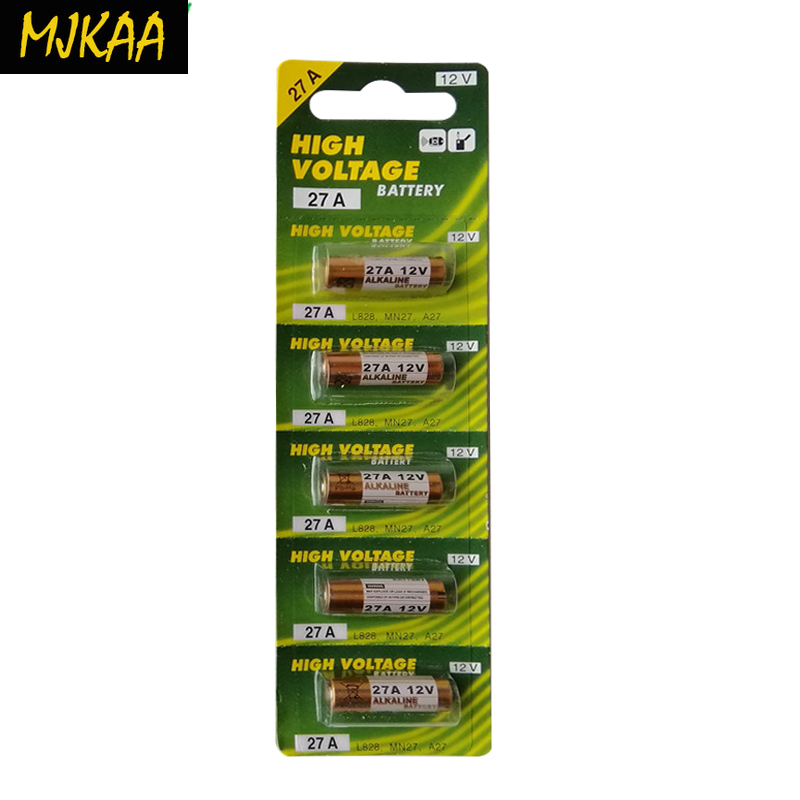 MJKAA 1Card 12v G27A  GP27A A27 L828 V27GA EL812 EL-812 CA22 ALK27A A27BP for Doorbell Remote Control Dry Alkaline Battery