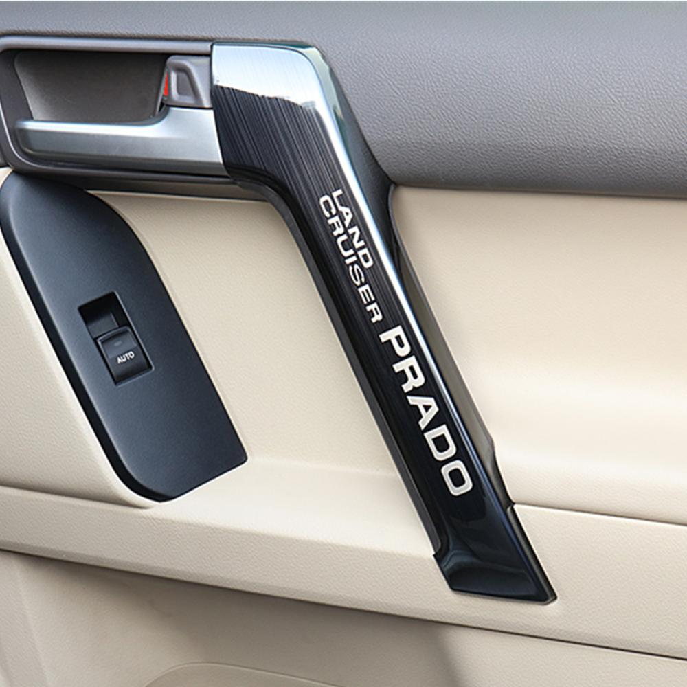 Prado Stainless Steel Door Handle Decorative Cover 150 2010 2011 2012 2013 2014 2015 2016 2017 2018 2019 Toyota Land Cruiser