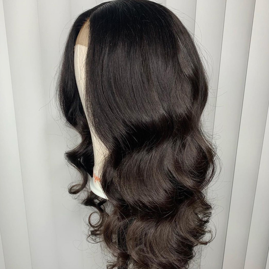 Image 4 - Glueless Lace Front Human Hair Wigs Body Wave Fake Scalp Wig Pre Plucked Brazilian remy Hair For Women 130 density 13x6-in Human Hair Lace Wigs from Hair Extensions & Wigs