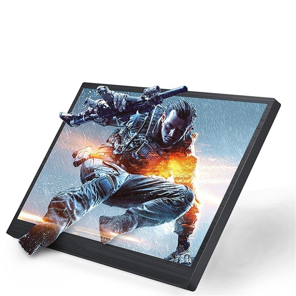 Portable Display Monitor 1024*600 LCD Monitor Full View HDMI VGA AV Industrial Capacitive 10 Inch LCD Screen EU Plug