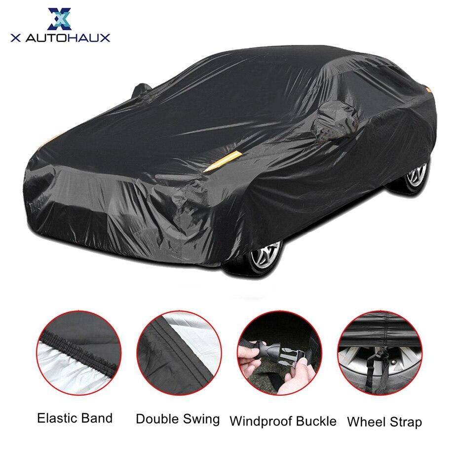 X Autohaux universel complet bâche de voiture intérieur extérieur Auto bâches de voiture neige glace étanche poussière soleil UV ombre couverture pour toutes les saisons
