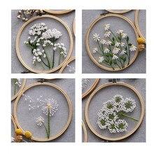 Diamantes flores de estilo europeu diy bordado fita conjunto iniciantes com bordado galpão kit de costura artesanato ponto cruz