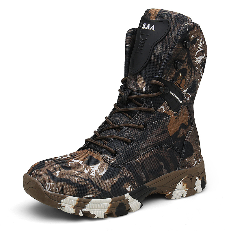 Oxford Waterproof Military Men Tactical Boots Camouflage Disguise Outdoor Hunting Boots For Men Size 47 Mid-calf Trekking Shoes