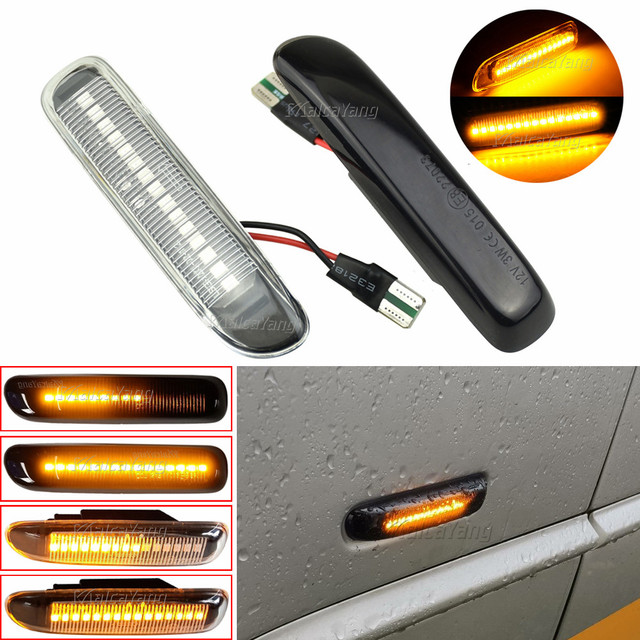 2pcs דינמי Led צד מרקר אור רכב זורם סדרתית הפעל אות אור עבור BMW 3 סדרת E46 1998 1999 2000 2001 2002 2003