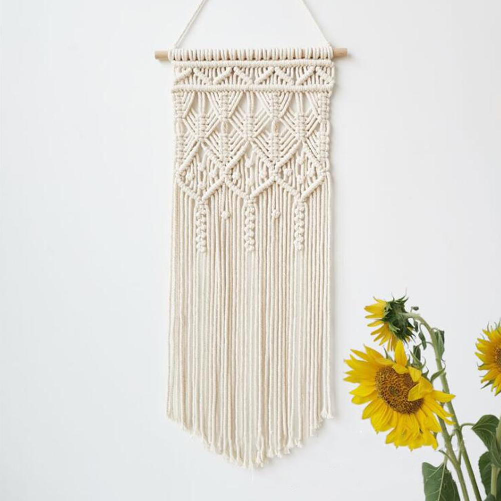 Macrame Boho Tapestry Wall Hanging Hand-woven Home Decoration Accessories Nordic Art Tassel Apartment Dorm Room Decoration