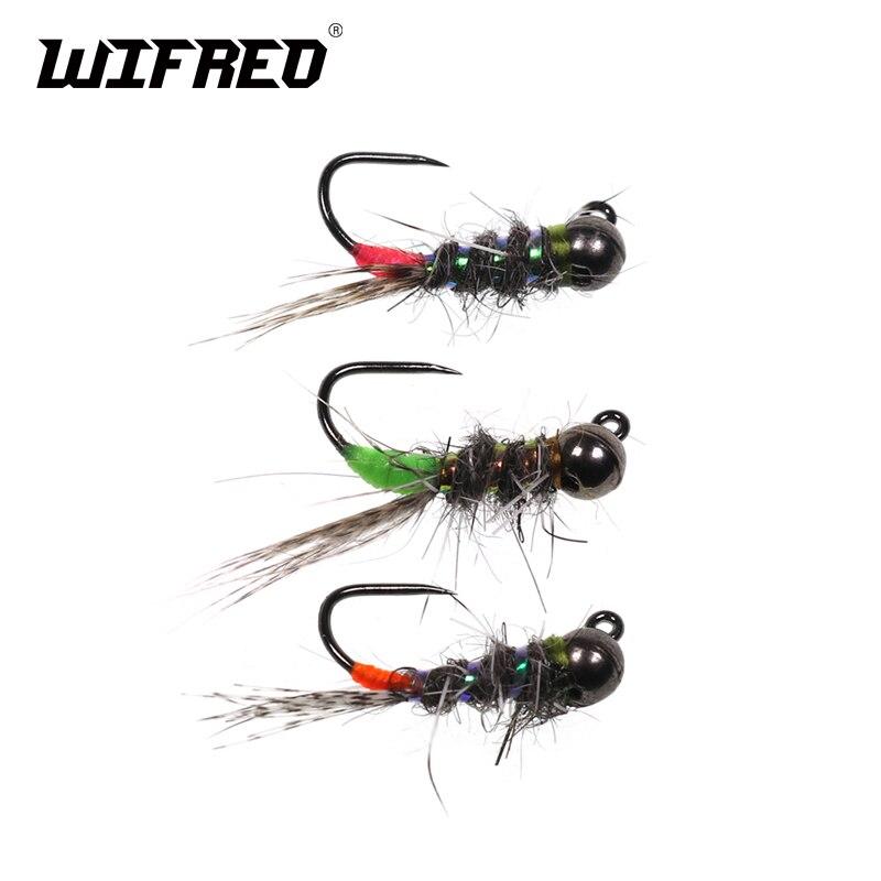 6PCS #6 Caddis Pupae Nymph Fly Trout Grayling Steelhead Fishing Bait Lure