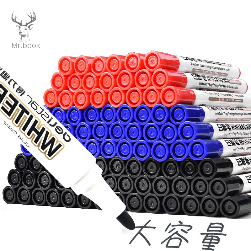 10pcs Erasable Whiteboard Marker Pen Office Dry Erase Markers Blue Black Red White Board Markers Office School Supplies