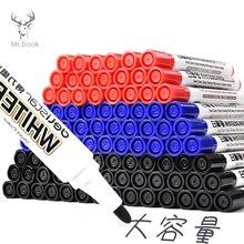 10pcs Erasable Whiteboard Marker Pen Office Dry Erase Markers Blue Black Red White Board Markers Office School Supplies