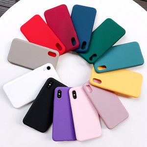Soft Silicone Candy Color Case For iPhone XS Max XR X 10 8 7 6 5 S 5S 5SE 2020 7Plus 8Plus Cell Phone Back Cover Matte Pink Wine