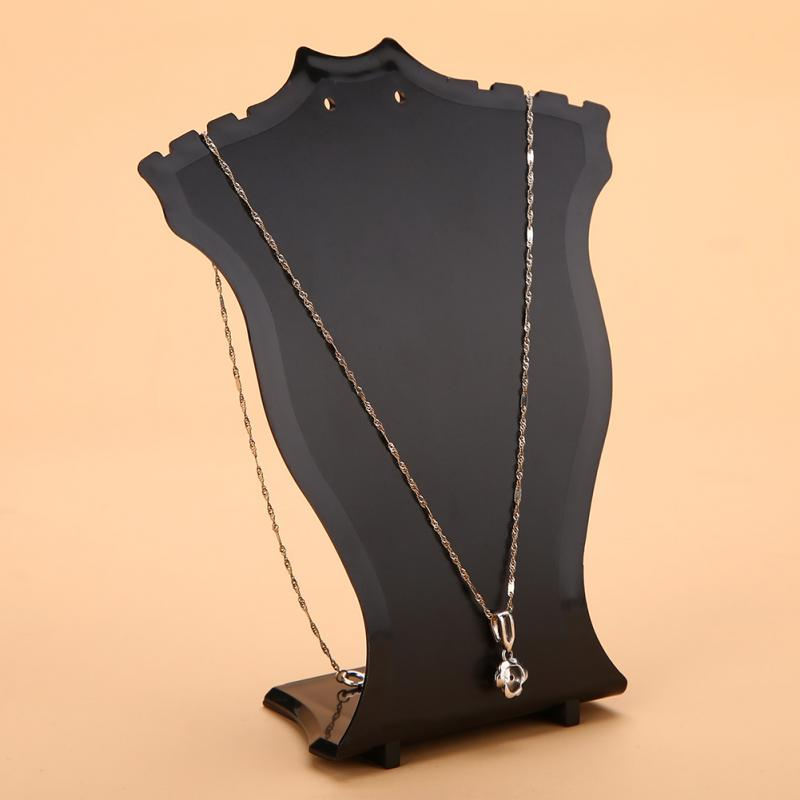 Necklace Chain Earring Jewelry Bust Display Holder Stand Showcase