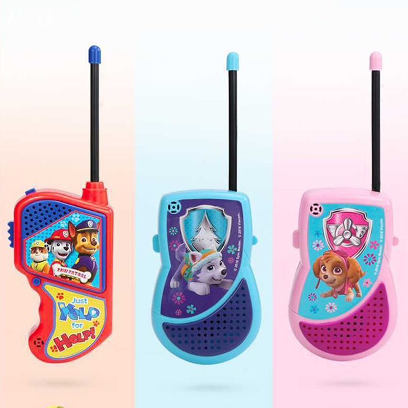 Paw Patrol Toys Set Walkie talkie Outdoor sports dialogue phone Action Figures Model Toy For Children Gift