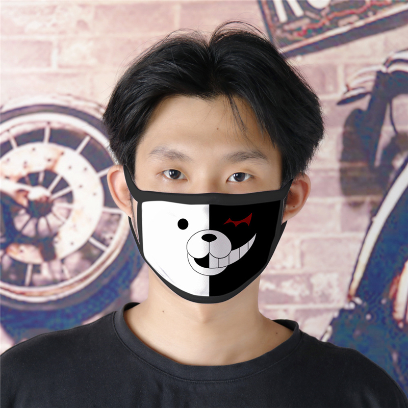 Danganronpa Monokuma Mask Masks Trigger Happy Havoc Cosplay Cotton Adult Dustproof Masks Props