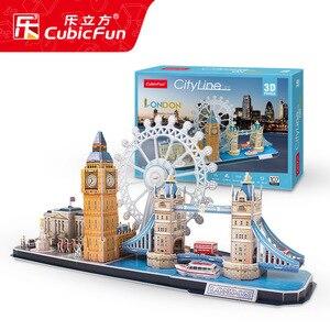 Image 3 - Jeu de Puzzle 3D, jouet en papier Miniature, bricolage, ville, londres, Paris, New York, moscou, célèbre, jeu à assembler, cadeaux pour enfants