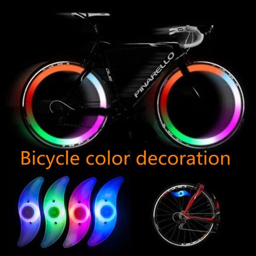 LED Cycling Bicycle Bike Wheel Spoke Tire Rim Charm Light Flash String Lamp