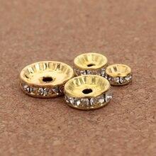 Perles en cristal strass, rondelles, amples, entretoises, pour la fabrication d'accessoires, vente en gros, 4 6 8 10 12mm, 50pcs, bijoux à bricoler soi-même