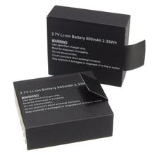 2 шт. 3,7 в 900 мАч перезаряжаемая литий-ионная батарея для SJ4000 WiFi SJ5000 WiFi M10 SJ5000x Elite Goldfox Экшн-камера