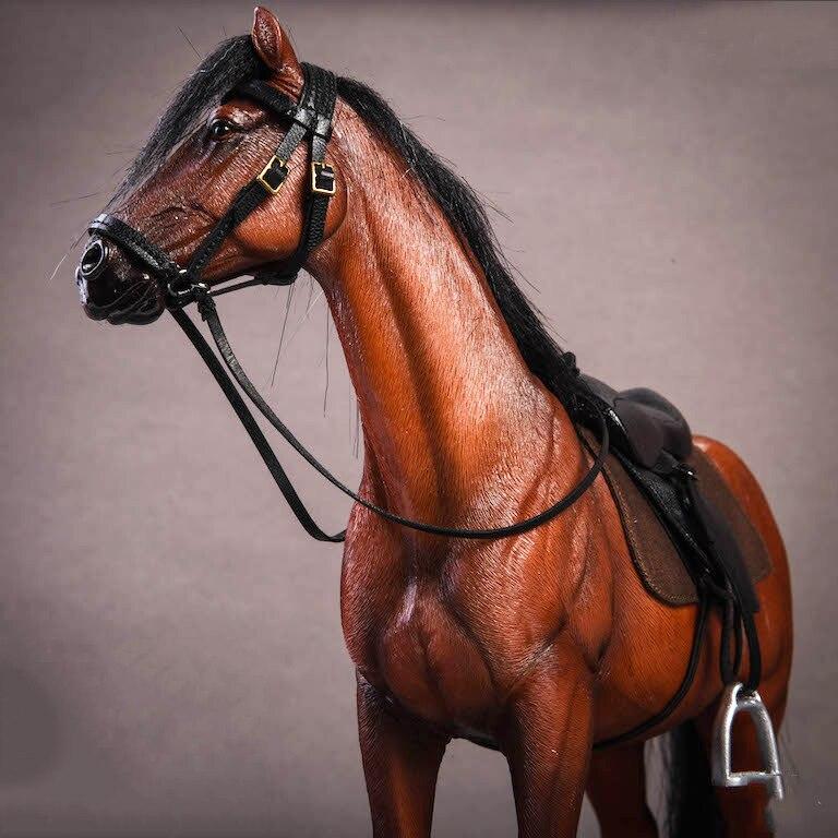 Около 21 см 1:12 моделирование ПВХ теплая кровяная лошадь крепления лошадь животное модель крепление детские игрушки украшение дома сбор пода... - 4