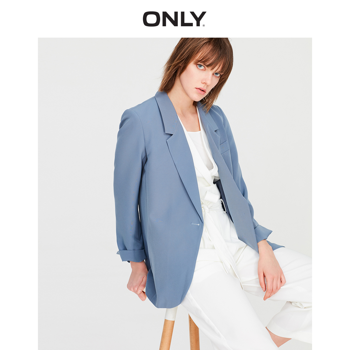 ONLY Women's Loose Fit Pure Color Blazer | 119108546