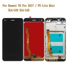Pantalla LCD para Huawei Y6 Pro 2017, SLA L02, P9 Lite, montaje de pantalla táctil, marco de repuesto