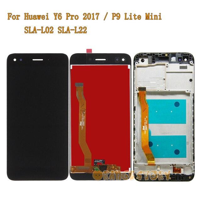 Tela lcd para huawei y6 pro 2017 SLA L02, mini display lcd de reposição para tela touch screen