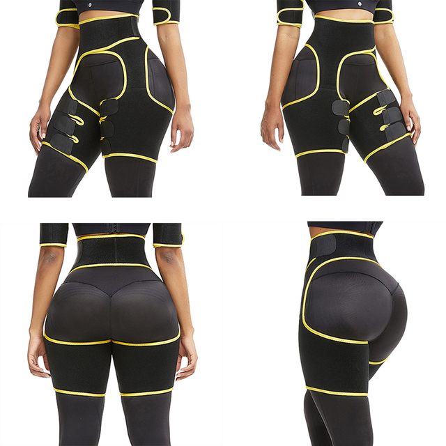 Woman Sweat Thigh Trimmers Leg Shaper Fajas Neoprene Slimming Belt Control Panties Fat Burning Wraps Thermo Belt 4