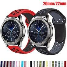20mm 22mm reloj correa para Samsung Galaxy reloj de 3 42 45 46mm activo 2 banda amazfit pace/gts2/bip deportes pulsera huawei GT 2 banda