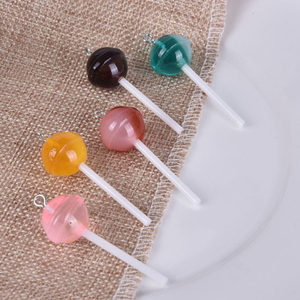 10Pcs Simulated Resin Sugar Candy Lollipop Charms Cabochon Decoration Craft Ornament Fittings DIY Food Pendant Jewelry Material