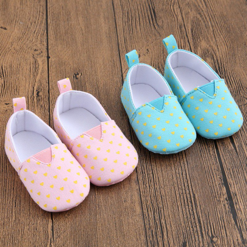 New Canvas Classic Sports Dot Sneakers Newborn Baby Boys Girls First Walkers Shoes Infant Toddler Soft Sole Anti-slip Baby Shoes