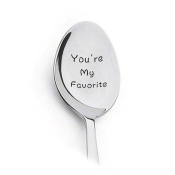 2021 New Valentines Day Gift Anniversary Gift for Boyfriend Present Stainless Steel Spoon You Are My Sunshine Girlfriend Gift image