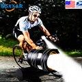 ZK20 Droshipping T6 велосипедный светильник  ультра яркий светодиодный фонарь  встроенный аккумулятор  USB  перезаряжаемый  Передний фонарь  безопасн...