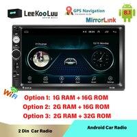 LeeKuuLoo Android 8.1 2 Din Car Radio Central Multimedia MP5 Video Player 2Din Autoradio Stereo GPS Bluetooth Mirror Link Wifi