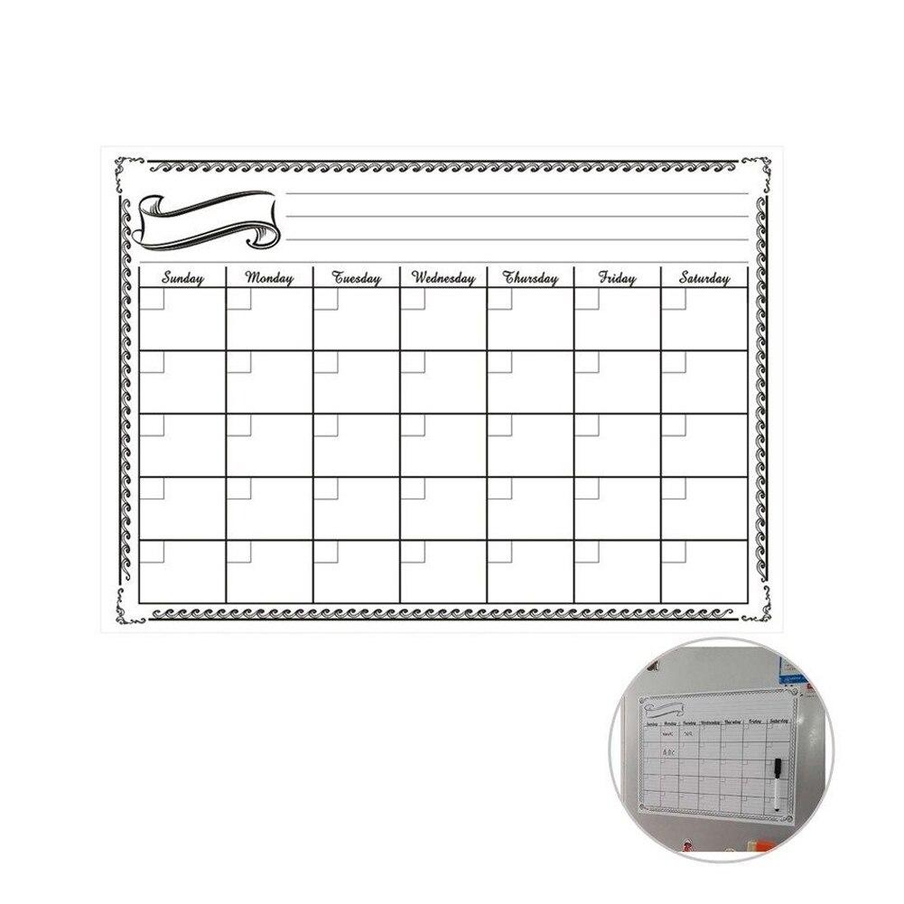30x42 Cm Monthly Dry Erase Magnetic Refrigerator Calendar Message Board PR Sale