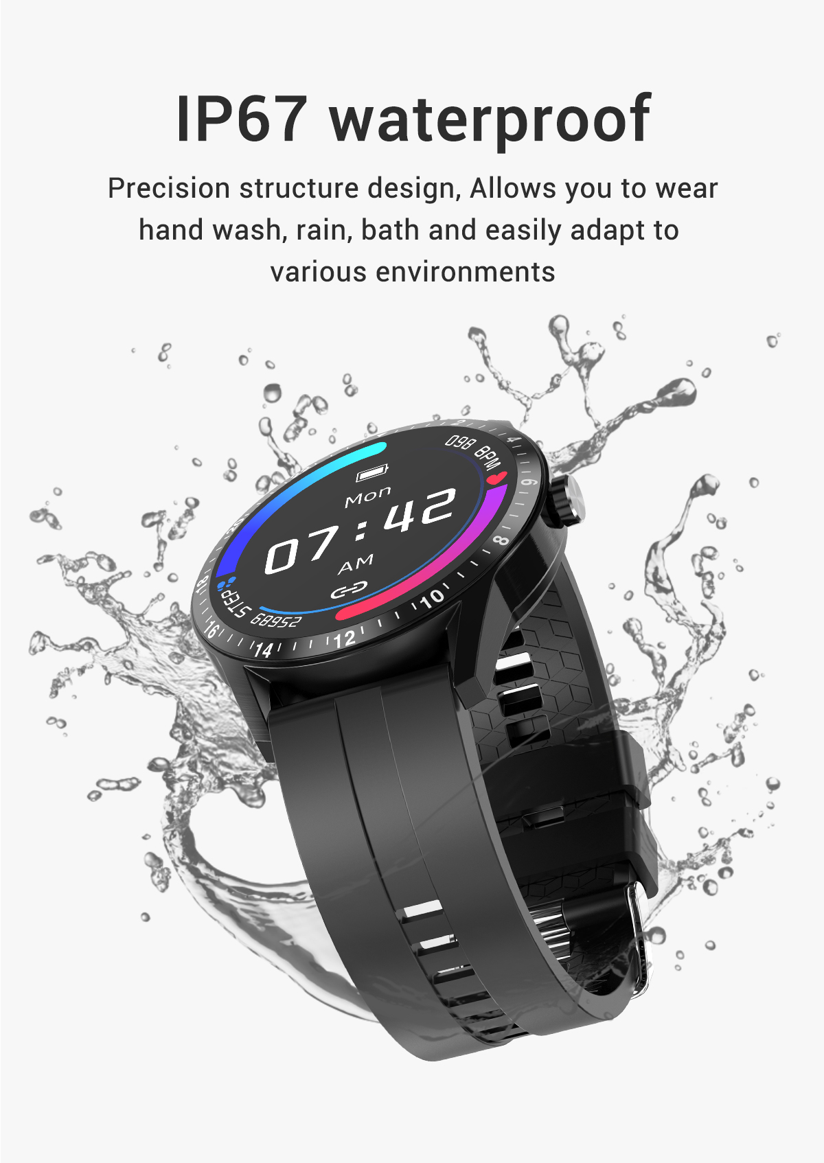LEMFO Full Touch Business Style Smart Watch Men Support Bluetooth Call Heart Rate Monitor Smartwatch for Android IOS Phone G20