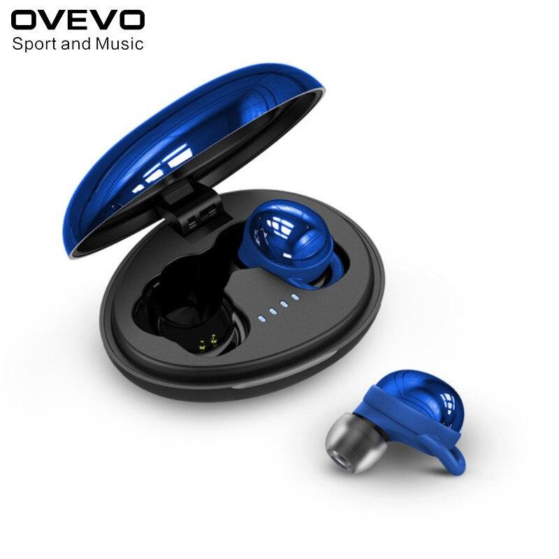 Neue ankunft Ovevo Q80 bluetooth V 5,0 Kopfhörer IPX7 Wasserdichte Super Bass HiFi Kopfhörer mit Mic rot blau farbe
