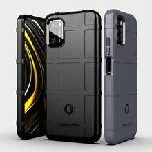 Capa de silicone escudo áspero para xiaomi poco m3 militar proteção resistente capa dura do telefone para caso de poco m3